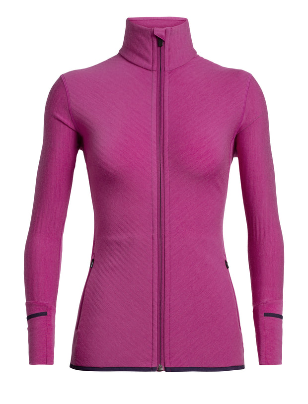 Womens Descender LS Zip - Amore shop Icebreaker at TheWoolPress in Arrowtown, NZ