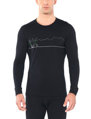 Mens 200 Oasis LS Crewe Single Line Ski | shop Icebreaker at TheWoolPress in Arrowtown, NZ