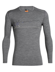 Mens 200 Oasis LS Crewe Single Line Ski