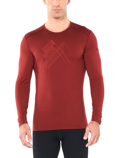 Mens 200 Oasis LS Crewe Snap Head | shop Icebreaker at TheWoolPress in Arrowtown, NZ