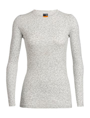 Womens 200 Oasis LS Crewe Sky Paths