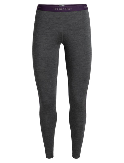 Womens 200 Zone Leggings - JetHTHR/Lotus shop Icebreaker at TheWoolPress in Arrowtown, NZ
