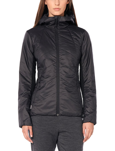 Womens Helix Hooded Jacket shop Icebreaker at TheWoolPress in Arrowtown, NZ