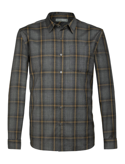 Mens Departure II LS Shirt - Gritstone Heather