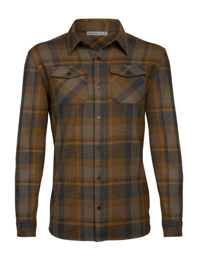 Mens Lodge LS Flannel Shirt - Jet Heather