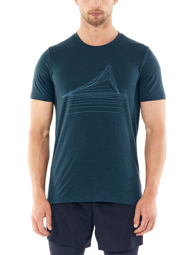 Mens Tech Lite SS Crewe Heating Up - Gritstone Heather