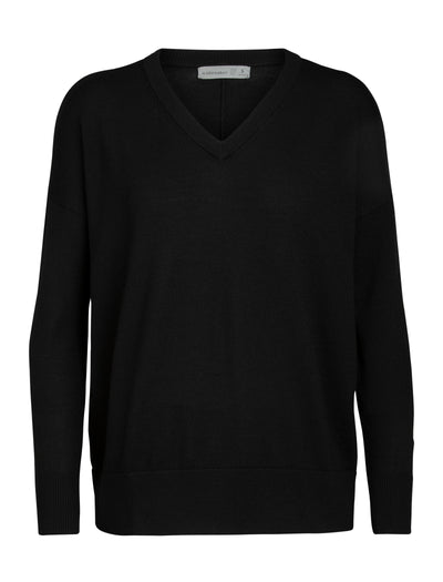 Womens Shearer V Sweater - Black