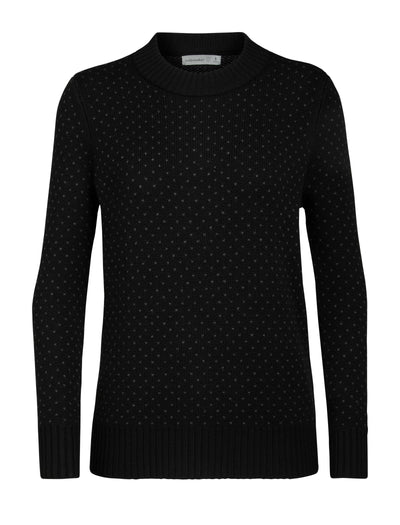 Womens Waypoint Crewe Sweater - Black