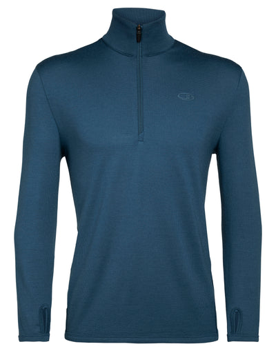 Mens Original LS Half Zip - Prussian Blue