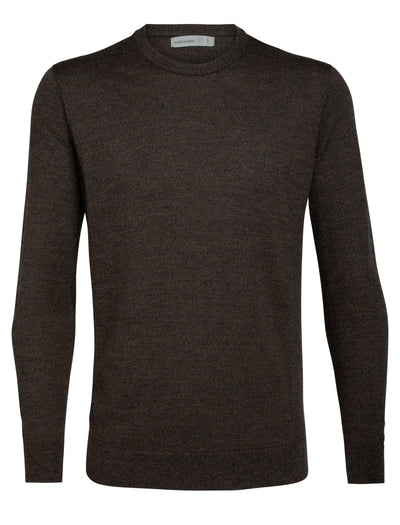 Mens Shearer Crewe Sweater - Peat Heather