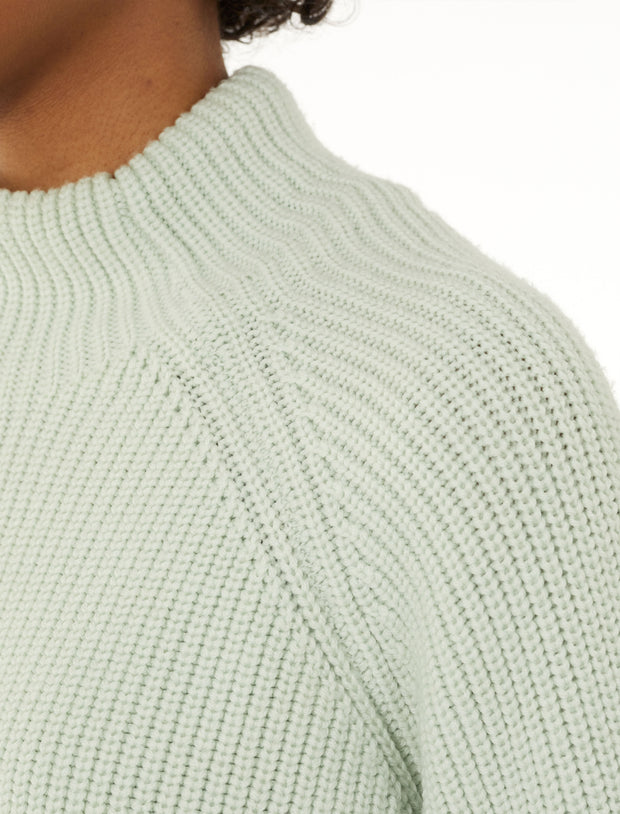Womens Hillock Funnel Neck Sweater - Frost