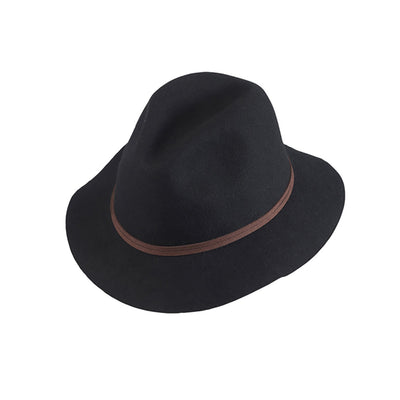 Womens Matilda Mid Brim Hat - Black