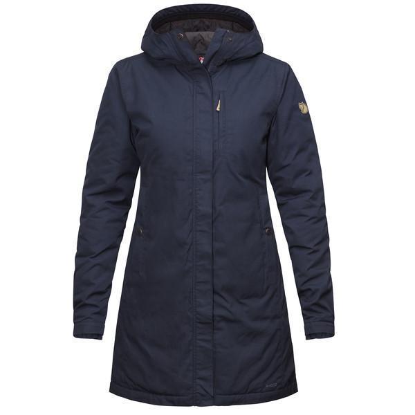 Womens Kiruna Padded Parka - Dark Navy