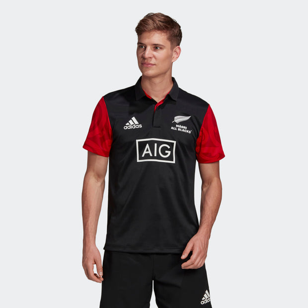 Mens All Blacks Maori Graphic Polo