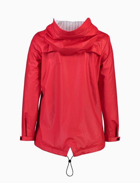 Moke-Mel Short Rain Jacket - Raspberry-shop online at www.thewoolpress.com