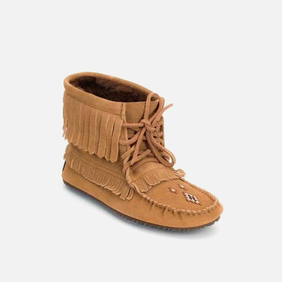 Womens Harvester Suede Lined Moccasin - Oak