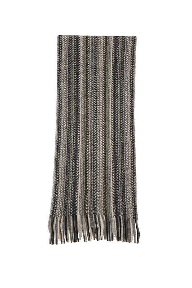 Multi Stripe Scarf-Native World-The WoolPress Arrowtown