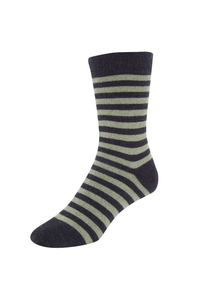 Two Tone Striped Sock-Native World-The WoolPress Arrowtown