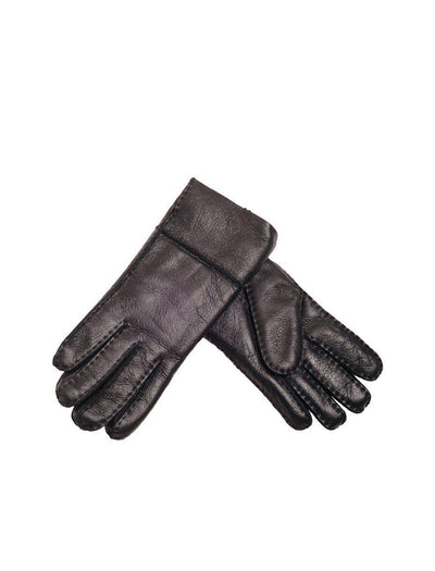 Sheepskin Nappa Gloves - Black-Mi Woollies-The WoolPress Arrowtown