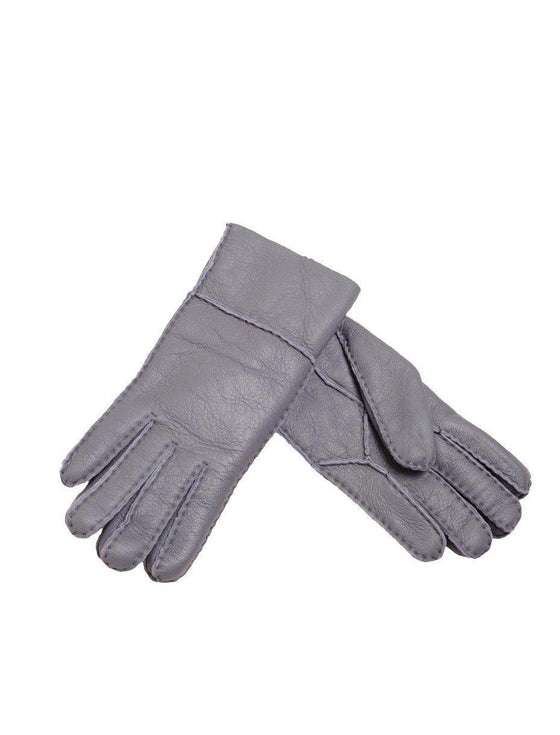 Sheepskin Nappa Gloves - Grey