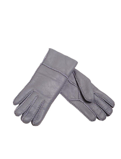 Sheepskin Nappa Gloves - Grey-Mi Woollies-The WoolPress Arrowtown