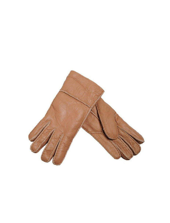 Sheepskin Nappa Gloves - Walnut