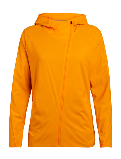 Womens Tropos Hooded Windbreaker - Sun
