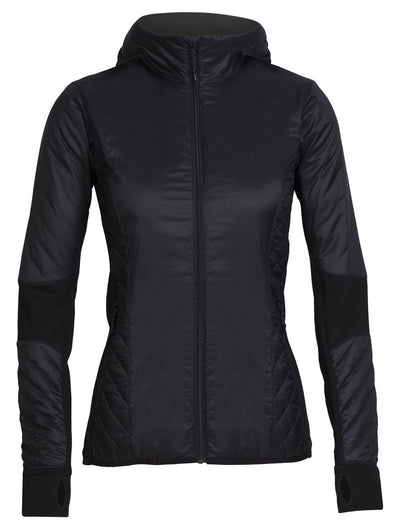 Womens Helix LS Zip - Black