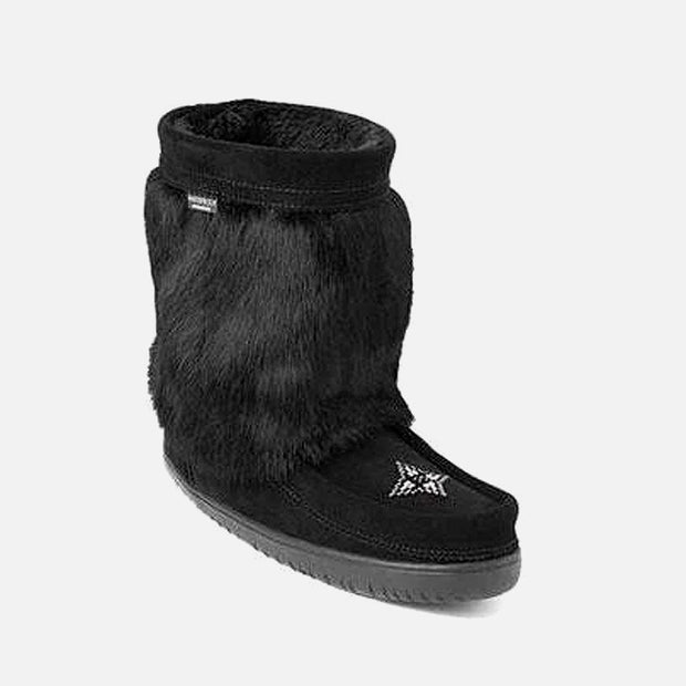 Womens Waterproof Half Mukluk - Black