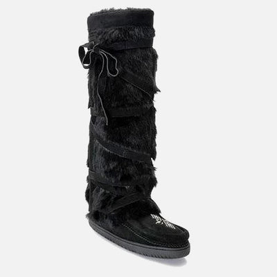 Womens Tall Wrap Mukluk - Black