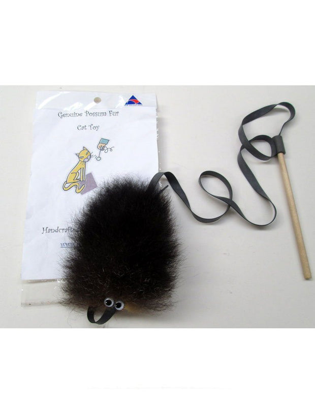 Possum Fur Cat Toy-Rozcraft-The WoolPress Arrowtown