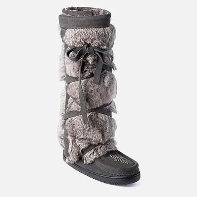 Womens Tall Wrap Mukluk - Charcoal