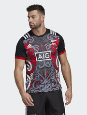 Mens All Blacks Maori Performance Tee-adidas-The WoolPress Arrowtown