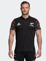 Mens All Blacks Maori Polo Shirt-adidas-The WoolPress Arrowtown
