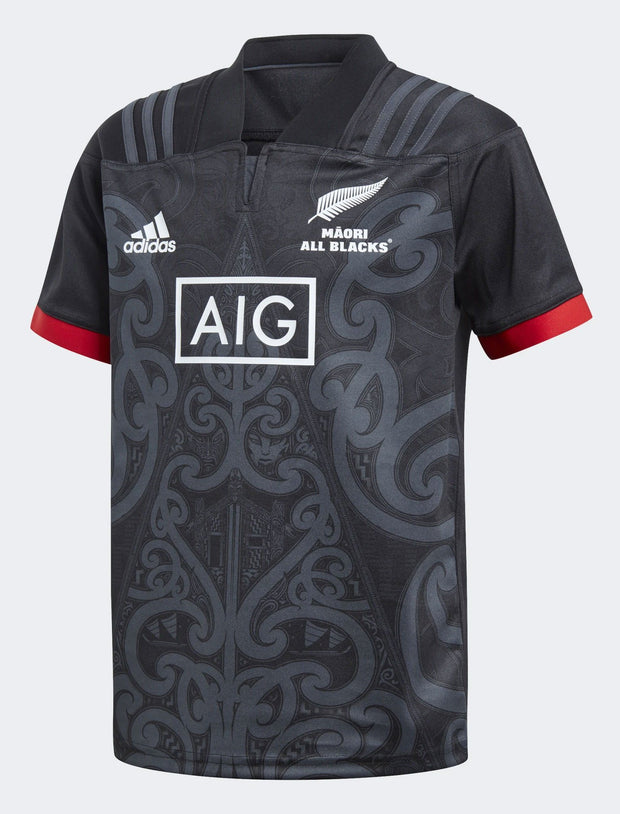 Kids All Blacks Maori Replica Jersey-adidas-The WoolPress Arrowtown