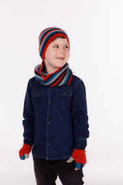 Kids Multicolour Fingerless Gloves