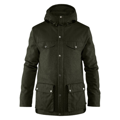 Mens Greenland Re-Wool Jacket - Deep Forest