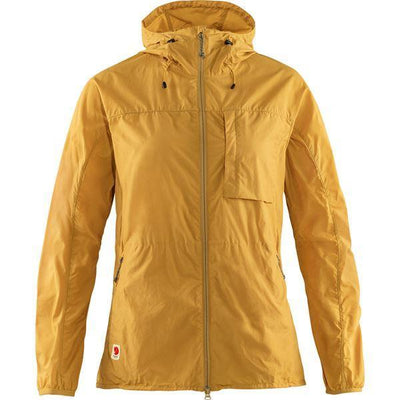 Womens High Coast Wind Jacket Ochre | Shop Fjallraven at thewoolpress.com
