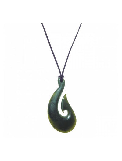All Blacks Pounamu Fish Hook-Moreton Jewellery-The WoolPress Arrowtown
