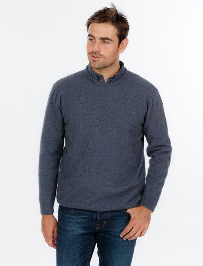 Mens Crewe Neck Sweater-Native World-The WoolPress Arrowtown