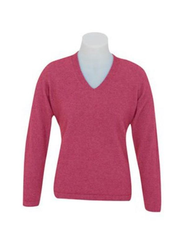 Womens Possum Merino V Neck Sweater