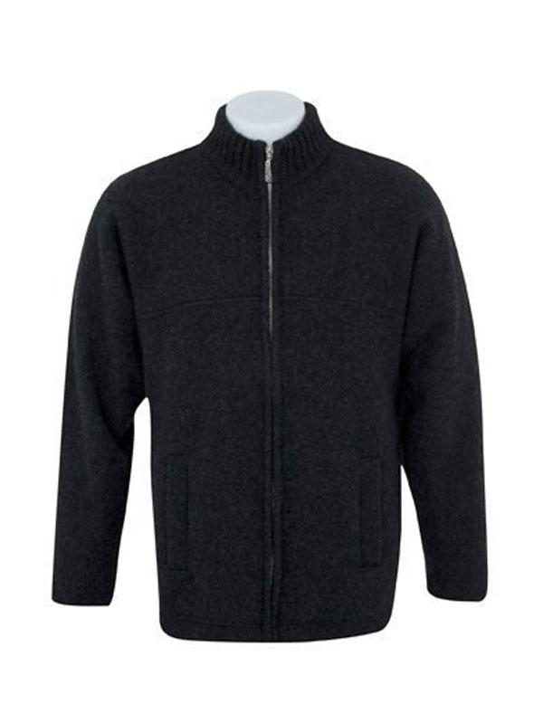 Mens Possum Merino Felted Full Zip Jacket