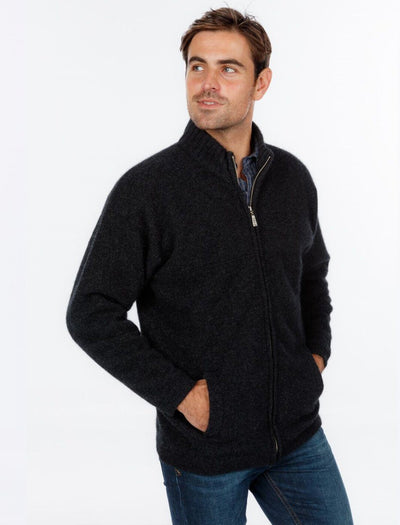 Mens Felted Full Zip Jacket-Native World-The WoolPress Arrowtown