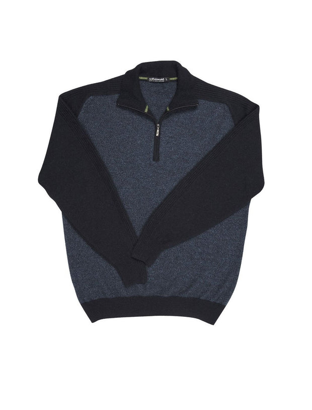 Mens Marl 1/2 Zip Sweater-Native World-The WoolPress Arrowtown