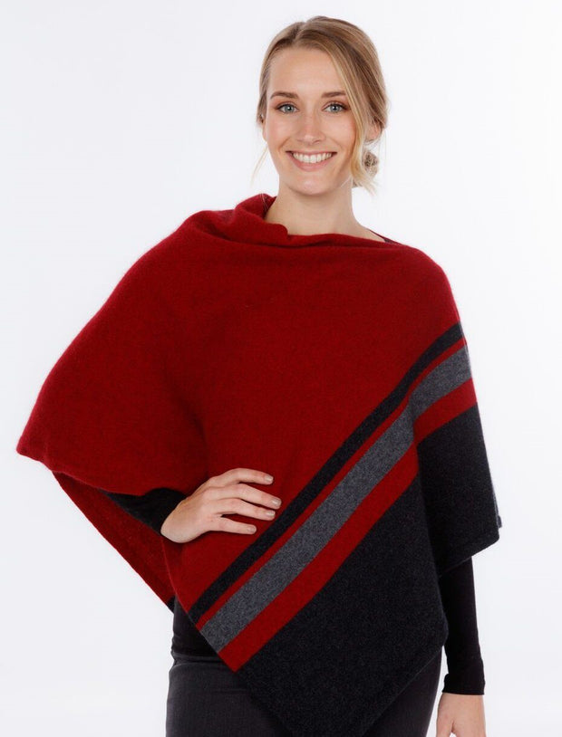 Womens 3 Tone Wrap-Native World-The WoolPress Arrowtown