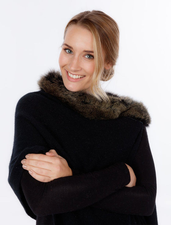Womens Snowtip Fur Wrap-Native World-The WoolPress Arrowtown