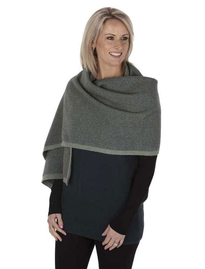 Womens Pebble Wrap-Native World-The WoolPress Arrowtown