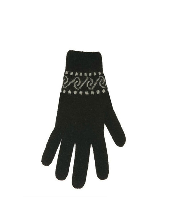 Womens Possum Merino Koru Gloves