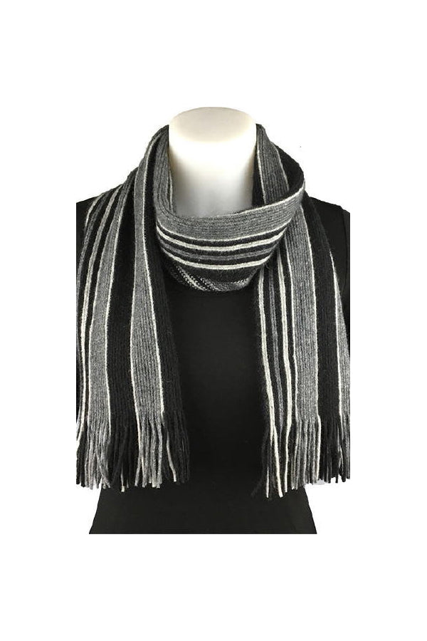 College Striped Scarf-Native World-The WoolPress Arrowtown