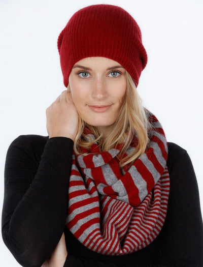 Striped Endless Scarf-Native World-The WoolPress Arrowtown